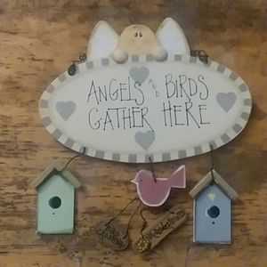 Angels and Birds Wall Signs